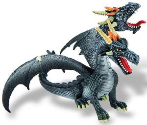 Picture of Dragon negru cu 2 capete
