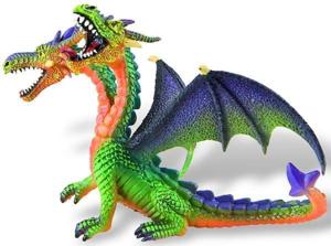 Picture of Dragon verde cu 2 capete