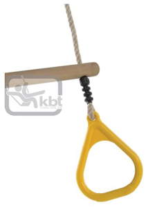 Picture of Trapez din lemn cu inele din plastic PP10, Galben, 2,55 m