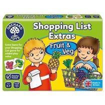Imaginea Joc educativ in limba engleza Lista de cumparaturi Fructe si legume