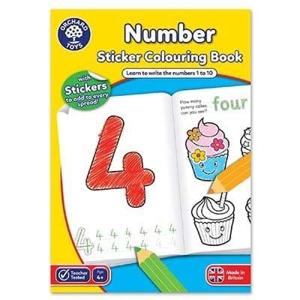 Picture of Carte de colorat cu activitati in limba engleza si abtibilduri Invata numerele NUMBER
