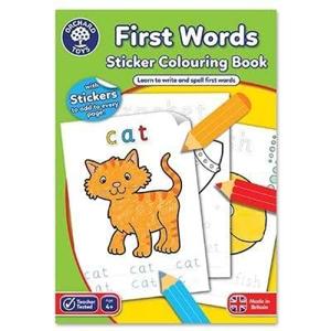 Picture of Carte de colorat cu activitati in limba engleza si abtibilduri Primele cuvinte FIRST WORDS