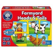 Imaginea Joc educativ asociere Prietenii de la ferma FARMYARD HEADS & TAILS