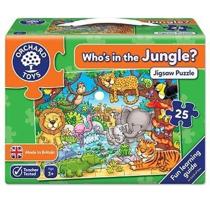 Imaginea Puzzle cu activitati Cine este in jungla? WHO'S IN THE JUNGLE?