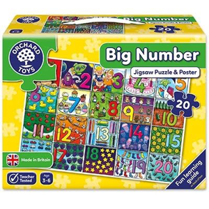 Picture of Puzzle de podea Invata numerele (de la 1 la 20) BIG NUMBER JIGSAW