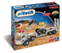 Imaginea Camion cu remorca si excavator