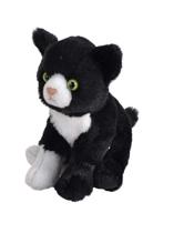 Imaginea Pisica Alb cu Negru - Jucarie Plus Wild Republic 13 cm